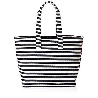 PIECES Pcbarbara Canvas Shopper - Women's Shoulder Bags, Blue (Maritime Blue), 15x38x55 cm (B x H T)