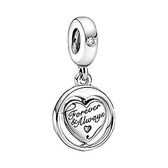 Pandora People - Forever & Always Rotating Pendant, in Sterling Silver, Size: 1.26 cm