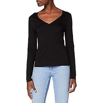 Lee V Hals T-Shirt, Svart, M Kvinna
