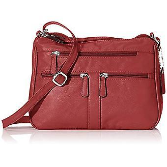 N.V. Bags N.V. BagsNv204DonnaRosso Shoulder Bag (Red) 12x21x29 Centimeters (W x H x L)