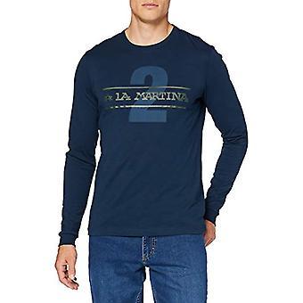 The Martina QMR013 Long Sleeve t-shirt Without Neck, Navy, L Man