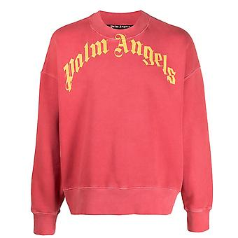 Palm Angels Logo Crew Red Sweater