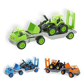 Mochtoys Toy Semitrailer 10171, Truck Low Loader con Excavadora 61 x 16 x 23 cm