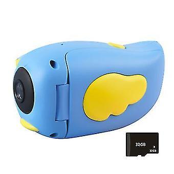 Синий детский камера smart hd мультфильм dv ручной спортивный видеокамера подарок для детей az22280