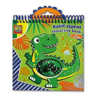 ses kreative barnas magiske paljetter fargelegging bok (blå / grønn) aktivitetssett