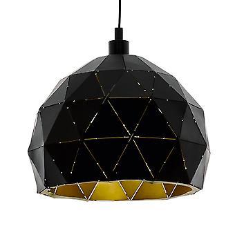 Eglo Roccaforte 300mm Luz colgante en negro y oro