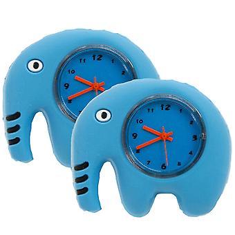 Les enfants regardent Unisexe Pliable Slap Regarder Silicone Cartoon Personnage-Éléphant, 2pk