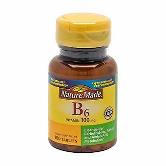 Nature Made Vitamin B-6, 100Mg, 100 Tabs