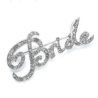 Korsage Listy Bride Bridal Broszka Pełna Diamond Broszka Pin