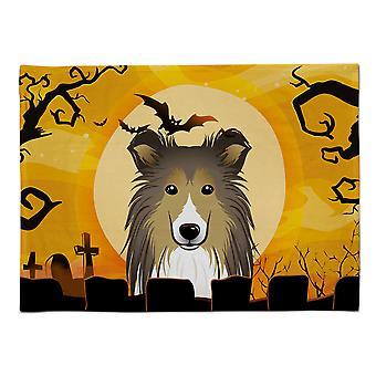 Caroline's Treasures BB1800PLMT Halloween Sheltie Stoff Tischset, Multicolor