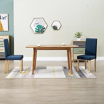 vidaXL chaises salle à manger 2 pièces tissu bleu