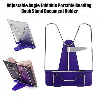 Adjustable Angle Foldable Portable Reading Book Stand Document Holder