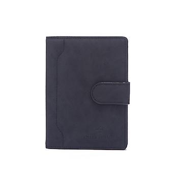 Geantă pașaport cu titular card și protecție RFID piele PU Negru