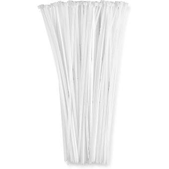 Opaski kablowe odporne na promieniowanie UV 500 szt Biały