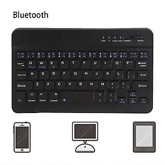 Qwert 10 inch Slim Wireless Bluetooth Keyboard For iMac/iPad Android Phone Laptop Tablet PC