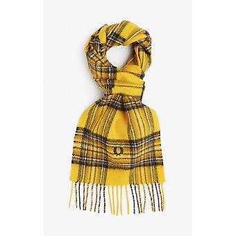 Fred Perry Stewart Tartan Scarf (Chrome Yellow)Red)
