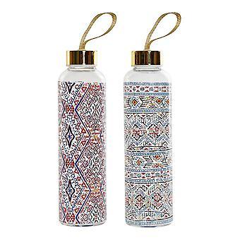 زجاجة مياه DKD ديكور المنزل متعدد الألوان زجاج البوروسيليكات الفسيفساء (2 PCS)