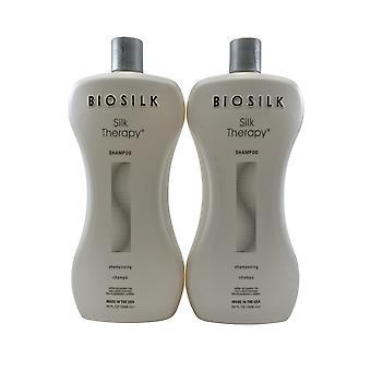 Biosilk Silk Therapy Shampoo Sulfate Free 34 OZ Set of 2