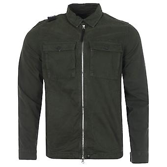 MA.Strum GD Zip Through Overshirt - Oil Slick