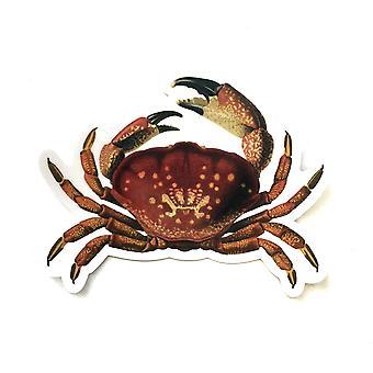 Vintage Crab Vinyl Sticker