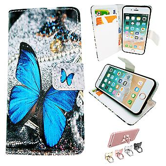 Iphone 6/6s Case/wallet leather-Butterfly