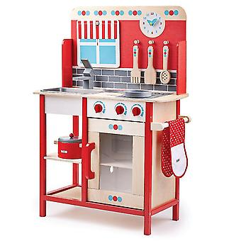 Toy kitchens play food wooden play kitchen with sink  cooker and additional accessories