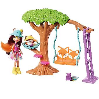 Bobblehead figures frh45 playground adventures playset with felicity fox doll and flick figure frh44