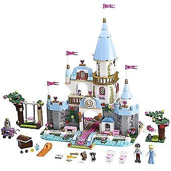 Età 3+, 360 pezzi disney frozen principessa elsa e anna costruzione modelli blocchi set per bambini(7)