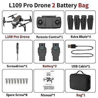 L109 pro gps drone 5g wifi 800m fpv con cámara 4k hd 2-a& xis anti-vibración autoestabilizante