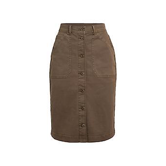 Robinia Organic Stretch Denim Skirt Espresso