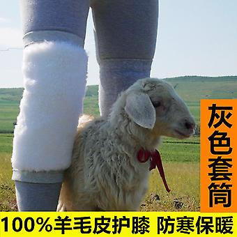 1 Pair Of Real Wool Leather Integrated Thermal Protection Knee Protection Old Cold Legs And Thick Velvet For Men And Women, Knee Arthritis Prevention