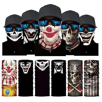 Bib Seamless Riding Mask Skull Magic Bandana Masque d'extérieur 5pcs