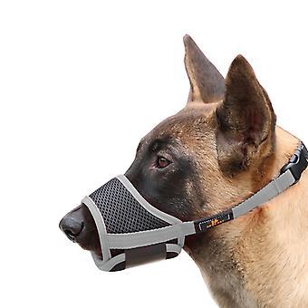 Haustierbedarf Hund Bissfestes Mundstück, einstellbar und atmungsaktiv (grau)