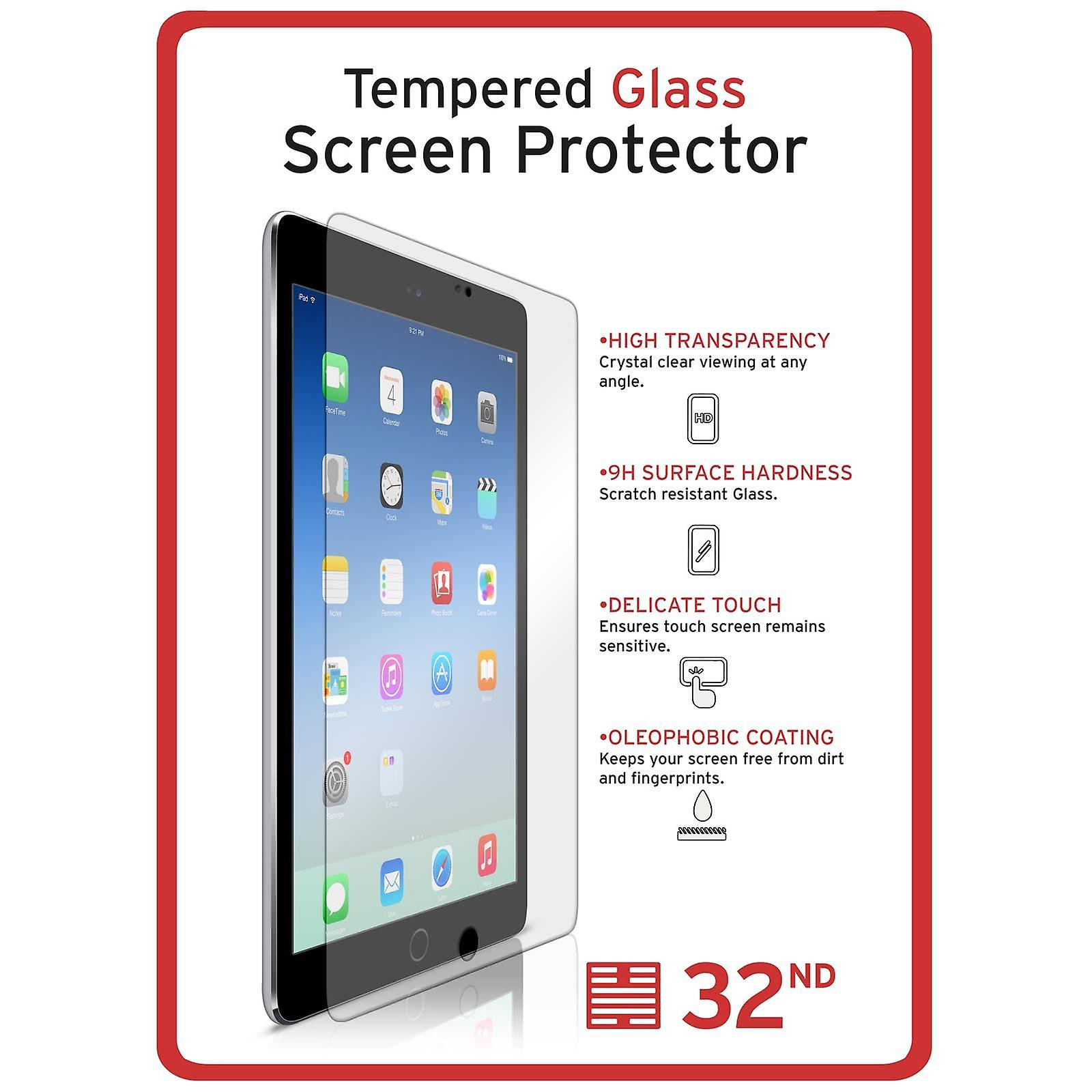 Extra Armoured Tempered Glass for Apple iPad Mini 1 2 3