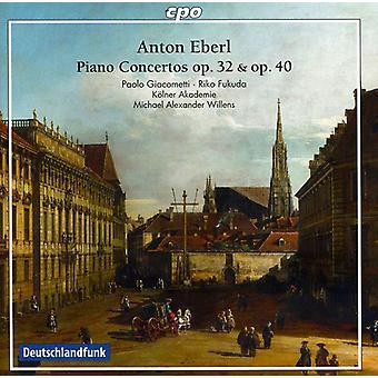 A. Eberl - Antón Eberl: Conciertos para Piano, importación USA ADV. 32 & 40 [CD]