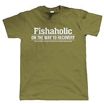 Fishaholic, Mens grappig visserij T Shirt | Grof Carp zee Match vliegen Specimen pakken vissers Hengelsport visser kleding | Cool verjaardag de Gift van Kerstmis presenteren hem vader man zoon opa
