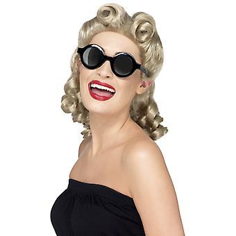 40s Charleston sunglasses round round glasses black 40ies shades