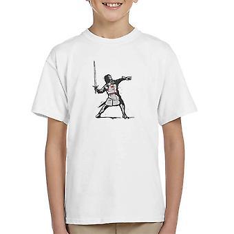 Voor het horloge Jon Snow spel van tronen Banksy woede de bloem Thrower Kid's T-Shirt