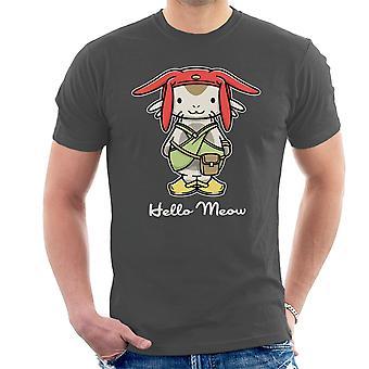 Hello Meow Space Dandy Kitty Men's T-Shirt