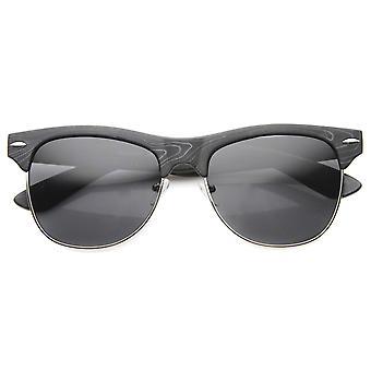 メンズ半縁なしサングラス UV400 保護複合レンズ