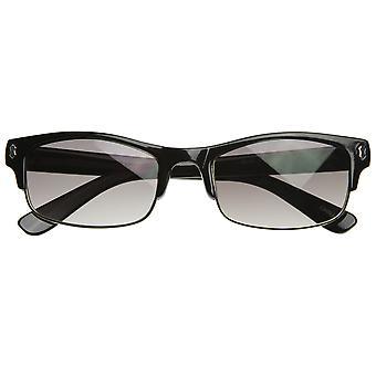 Ohut suunnittelija innoittamana puoli kehyksen semi-reunattomat Flat Top Sunglasses