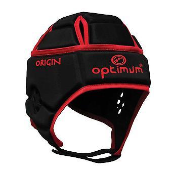 OPTIMUM origin rugby headguard [black/red]
