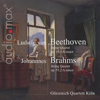 L.V. Beethoven - Beethoven: String Quartet Op. 18/5 a Major; Brahms: String Quartet Op. 51/2 a Minor [CD] USA import