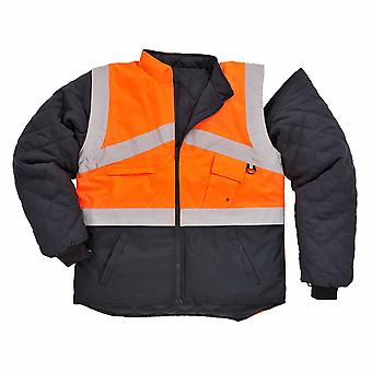 Portwest - Hi-Vis Outdoor 2-Tone Reversible Jacket With Detachable Sleeves