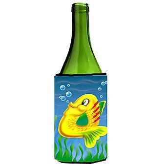 Yellow Fish Wine Bottle beverage insulator Hugger