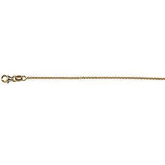 18k gul guld 1,5 mm kabelkedja halsband smycken gåvor för kvinnor - Längd: 16 till 30