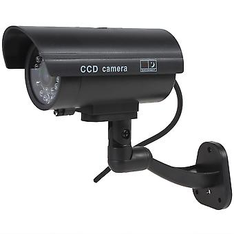 Kabalo Realistic Fake Dummy CCTV Security Camera Flashing Red LED Indoor Outdoor Black