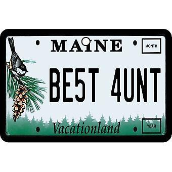 Maine - meilleure tante License plaque voiture assainisseur d'Air