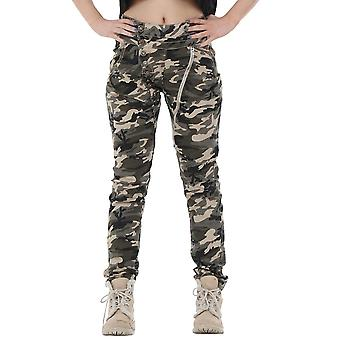 Army Military Camouflage Slim Fitted Stretch Jeans
