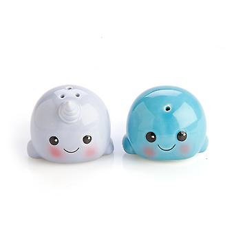 Whale & Narwhal Salt & Pepper Set